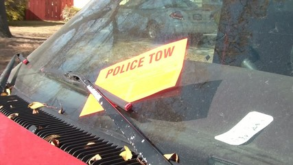 Police Tow Under Windshield Wiper