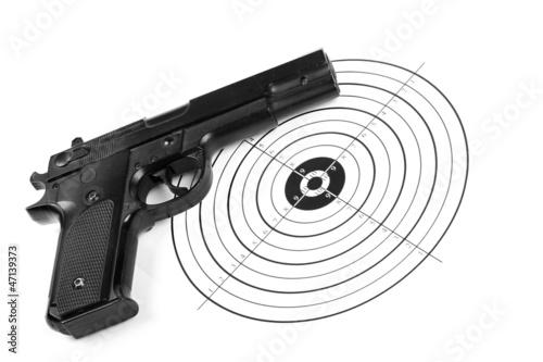 practicing shooting
