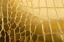 Shiny Gold Leder als Hintergrund