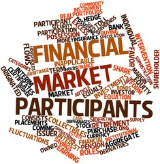 Word cloud for Financial market participants