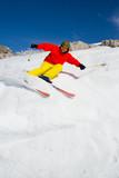 Skiing, Freeride - man skiing downhill