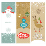 Set of Christmas and New Year's vertical banners
