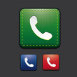 Phone icon set - Telephone, phone icon blue, green, red