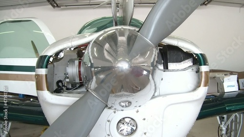 Nose of Prop Plane Closeup