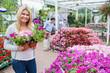 Female customer in garden center