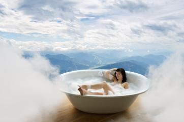 Wolkenschaumbad