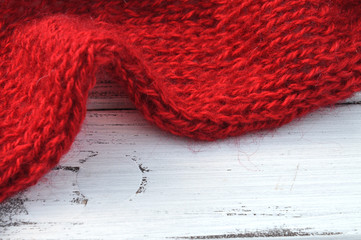 Red Knit Frame