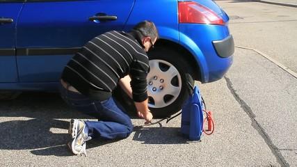 gonflage de pneu