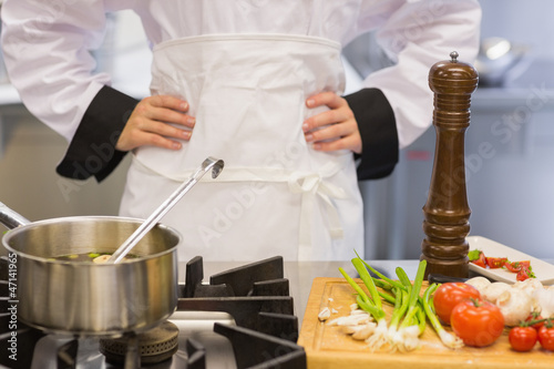 Chef making soup - 47141965