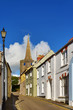 St Mary's Church, Tenby,viewed from a picturesque street.
