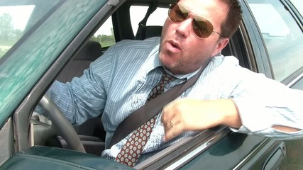Road Rage Businessman
