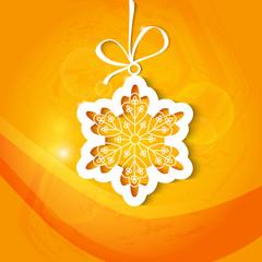 Christmas card with snowflake, Xmas card