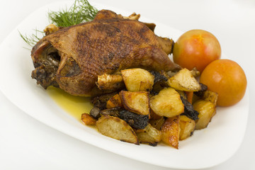wild duck roasted whole