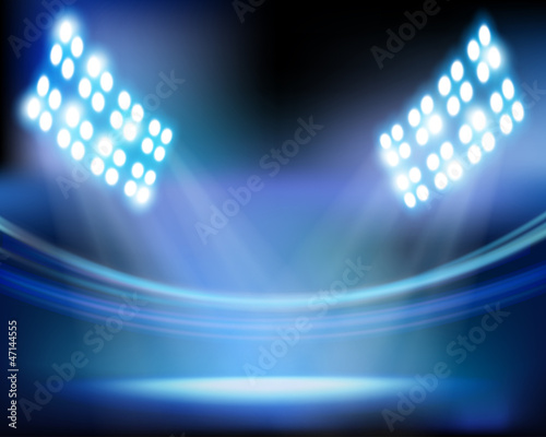 Stadium lights. Vector illustration.