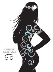 Stylized zodiac sign Сancer