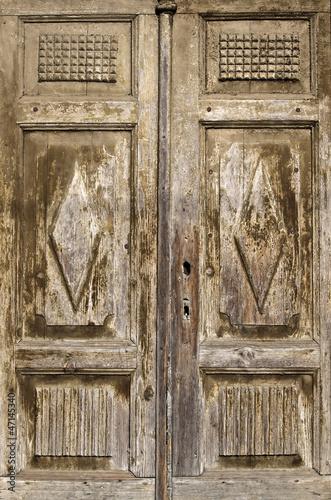 Fototapeta Old wooden antique door