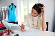 Fashion designer working on creation