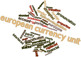 Word cloud for European Currency Unit