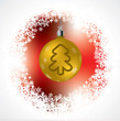 Christmas tree shape on golden decoration