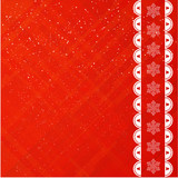 Christmas red applique background.