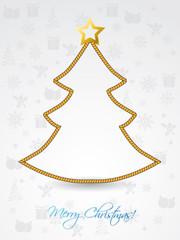 Christmas tree shaped rope