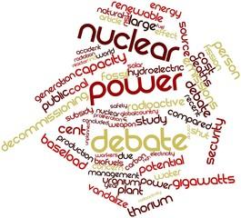 Word cloud for Nuclear power debate