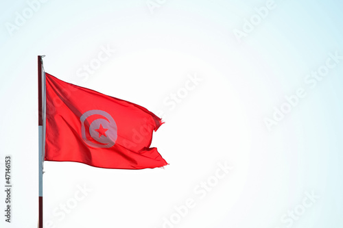 Tunisian windy flag