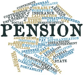Word cloud for Pension