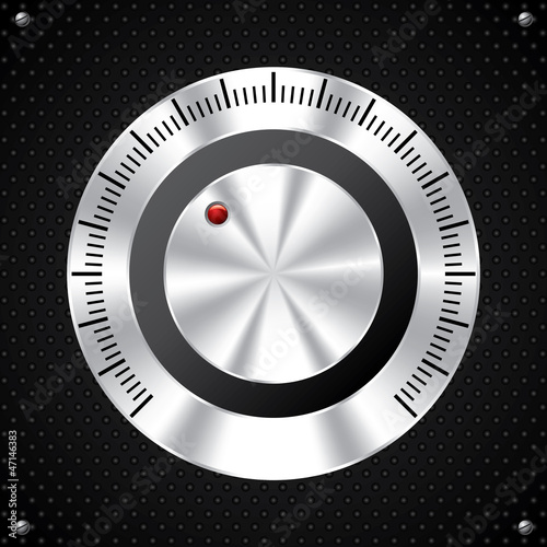 Volume knob design with red LED