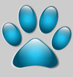 Paw print-shaped presentation/option template