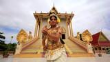 Apsara Dancer beautiful supernatural female in asian mythology poster