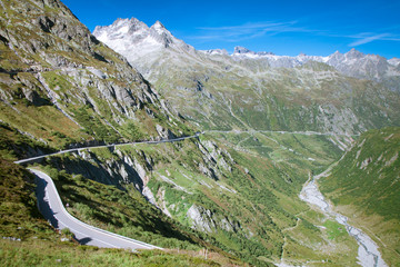 Mountain road, Sustenpass, Central Switzerland
