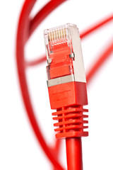macro takes: cable connection red network