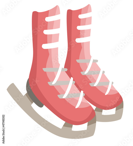 figure skates isolated on white background vector