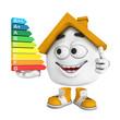 Kleines 3D Haus Orange - Top Energieverbrauch