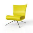 Moderner Sessel isoliert - Gelb