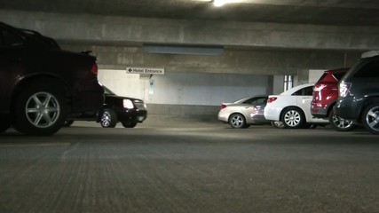 Black Truck in Parking Garage