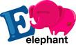 Animal alphabet letter - E