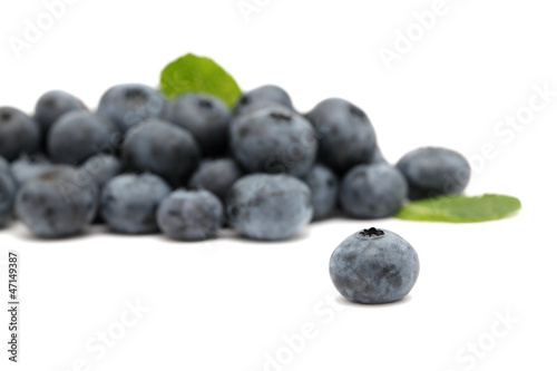 Pile of ripe blueberry