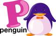 Animal alphabet letter - P