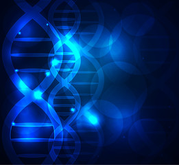 DNA chain abstract blue background