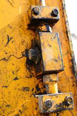 close up of machine track