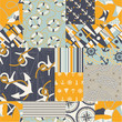 Nautical  patchwork - seamless pattern