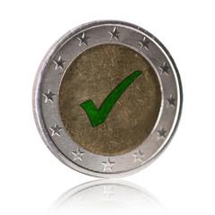 Euro Münze mit Haken