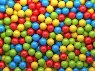 mixed color balls background