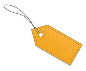 Blank orange sale tag