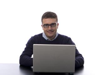 man computer internet