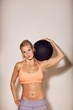 Sport Woman with a Gym Ball