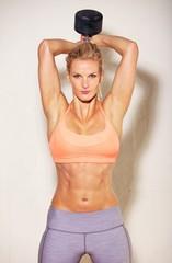 Sweaty Athlete Exercising