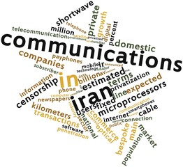 Word cloud for Communications in Iran